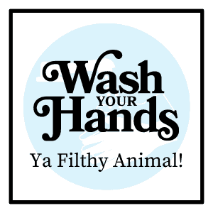 """Printable """"Wash Your Hands"""" gift tag"""