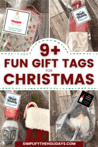 multiple Christmas gifts with tags