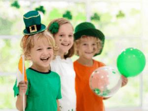 kids celebrating St. Patricks day